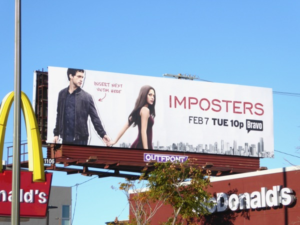 Imposters series premiere billboard