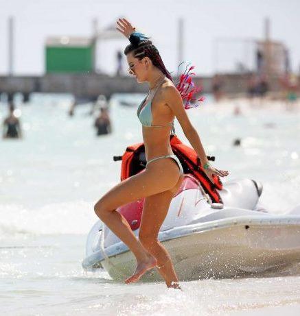 Bella Thorne in Bikini at a Beach in Cancun