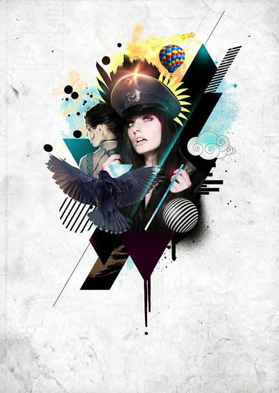 Photoshop tutorial to Create This Stylistic Mixed-Media Artwork in Photoshop
