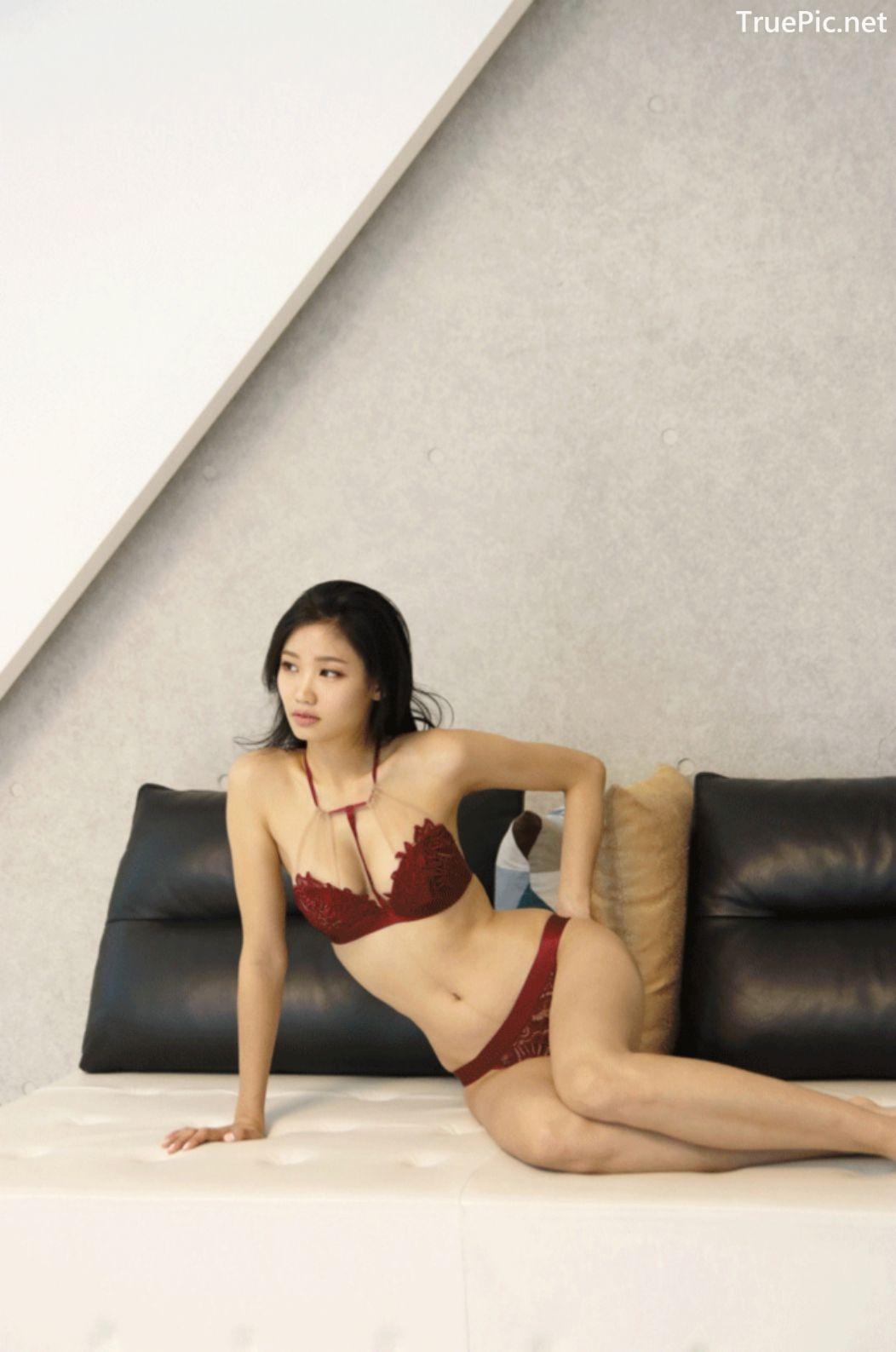 Image Korean Fashion Model - Lee Hee Eun - Baghdad Caffeine Burgundy Lingerie - TruePic.net - Picture-8