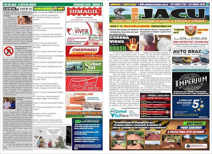 Leia a edição 175 do Jacu - Fevereiro/Março 2020