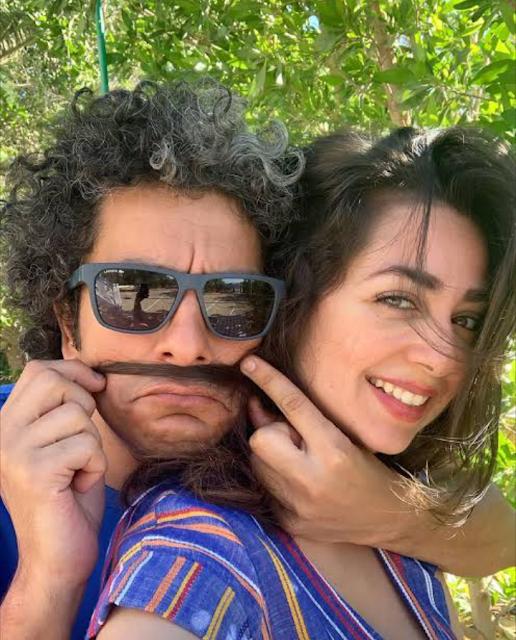 صور.. هبة مجدي تشارك جمهورها الاحتفال بعيد زواجها