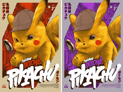 Pokemon: Detective Pikachu Movie Poster Screen Print by Ken Taylor x Mondo