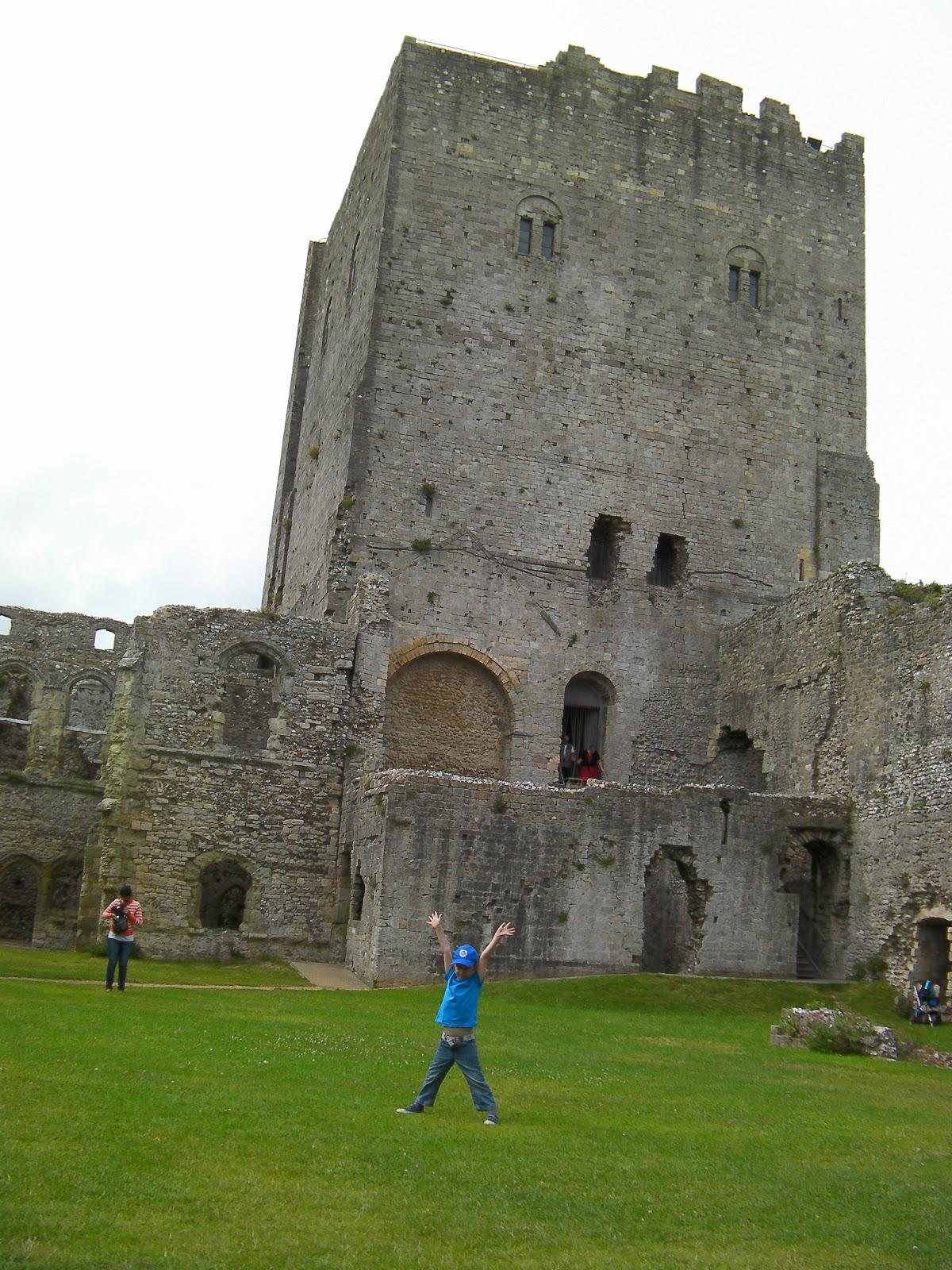 medieval roman castle ruin portchester
