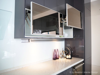 BLUM Aventos Lift-ups system & Magic Glass by Signature Kitchen