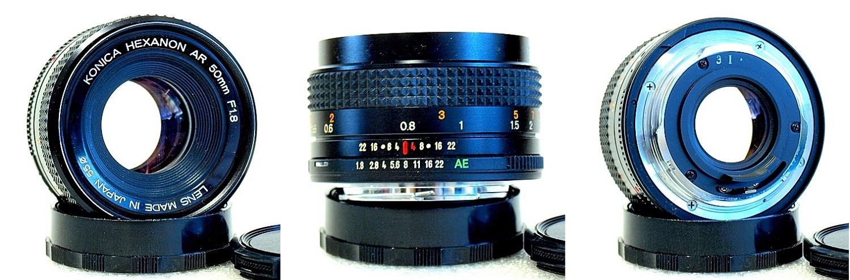 Konica Hexanon AR 50mm 1:1.8 #550