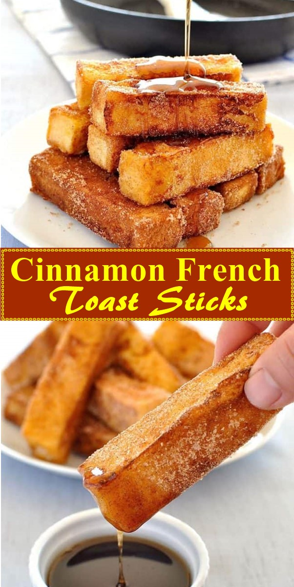Cinnamon French Toast Sticks #breakfastideas