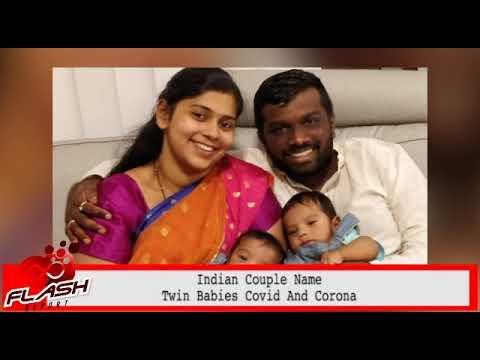 Indian couple name twin babies Covid and Corona