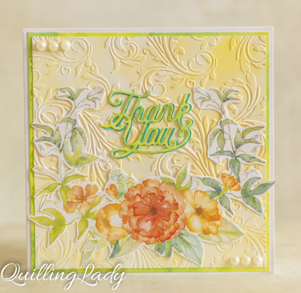 quilling lady  summer flowers and thank you cards