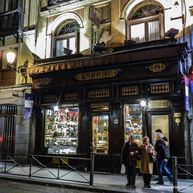 Confeitaria e restaurante Lhardy, em Madri