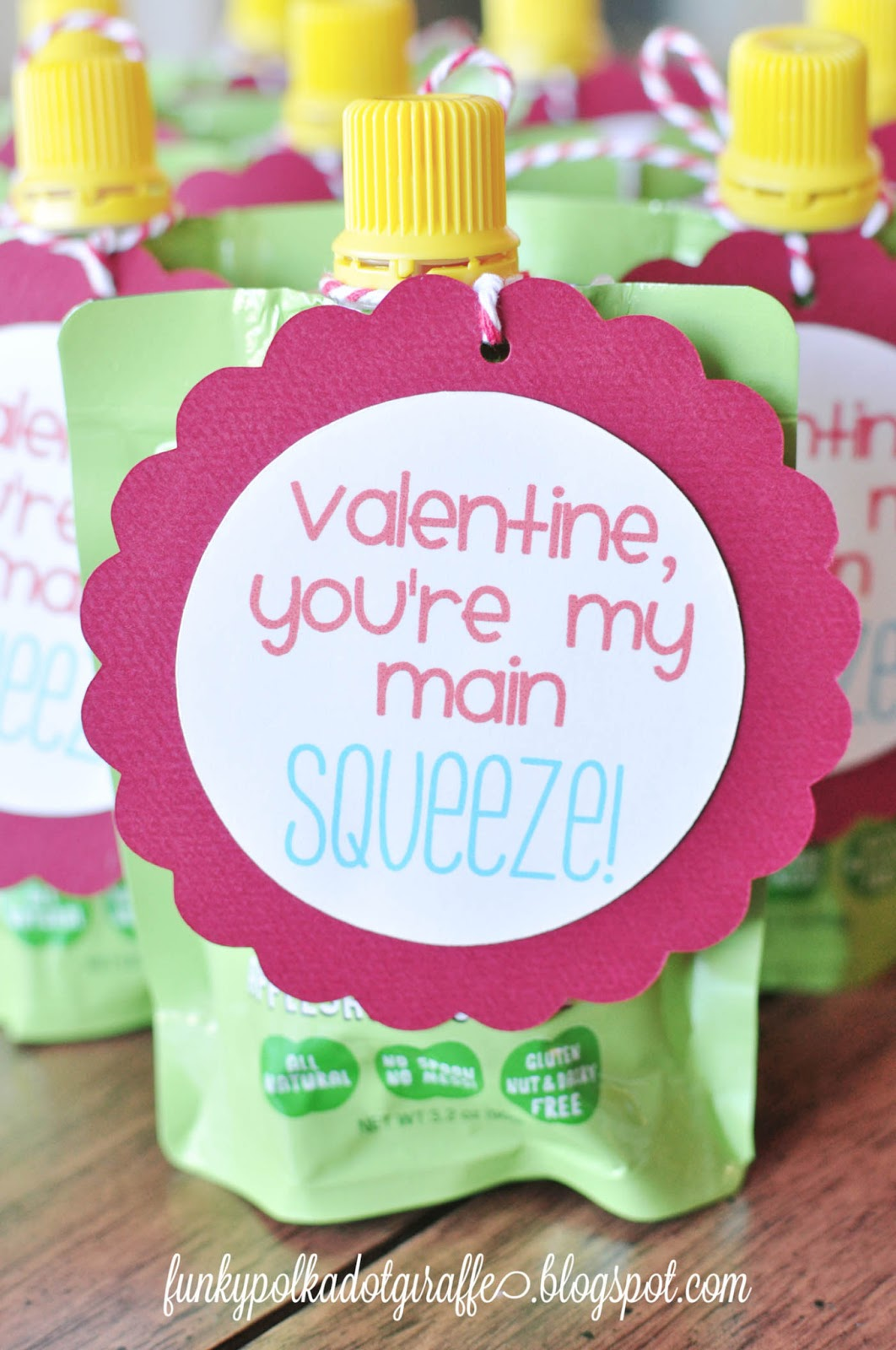 Funky Polkadot Giraffe Preschool Valentines You Re My Main Squeeze