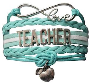 Teacher Gifts- Teacher infinity bracelet on Amazon.