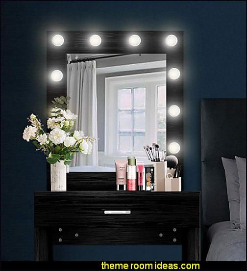 Lighted Mirror vanity mirror hollywood glam makeup vanity lights