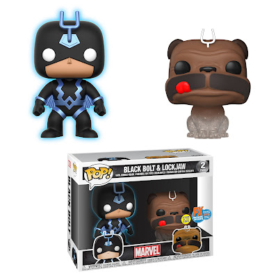 San Diego Comic-Con 2018 Exclusive Inhumans Glow in the Dark Black Bolt & Teleporting Lockjaw Pop! Marvel Box Set by Funko x PREVIEWS