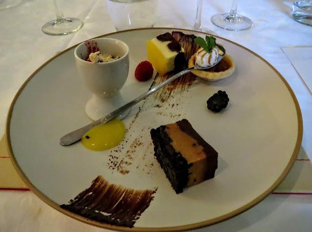 Assiette of desserts prepared by Eala Bhán restaurant in County Sligo, Ireland