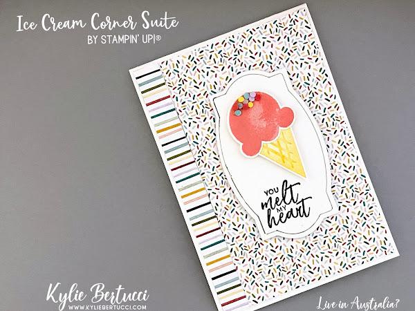 Pretty Cards and Paper International Blog Hop January 2021   Ice Cream Corner