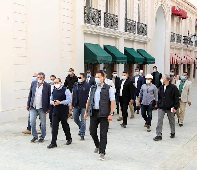 الرئيس السيسي يتفقد أكبر مدينة فنية وثقافية بالشرق الأوسط بالعاصمة الادارية