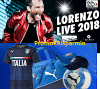 Logo Vinci gratis biglietti ''Jovanotti Tour'' e tantissimi gadget dell Nazionale