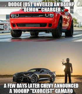 Camaro Exorcist vs Dodge Demon Memes 01
