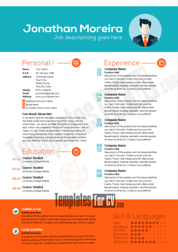 resume templates web developer download 35 free creative resume cv templates xdesigns 28 free professional resume
