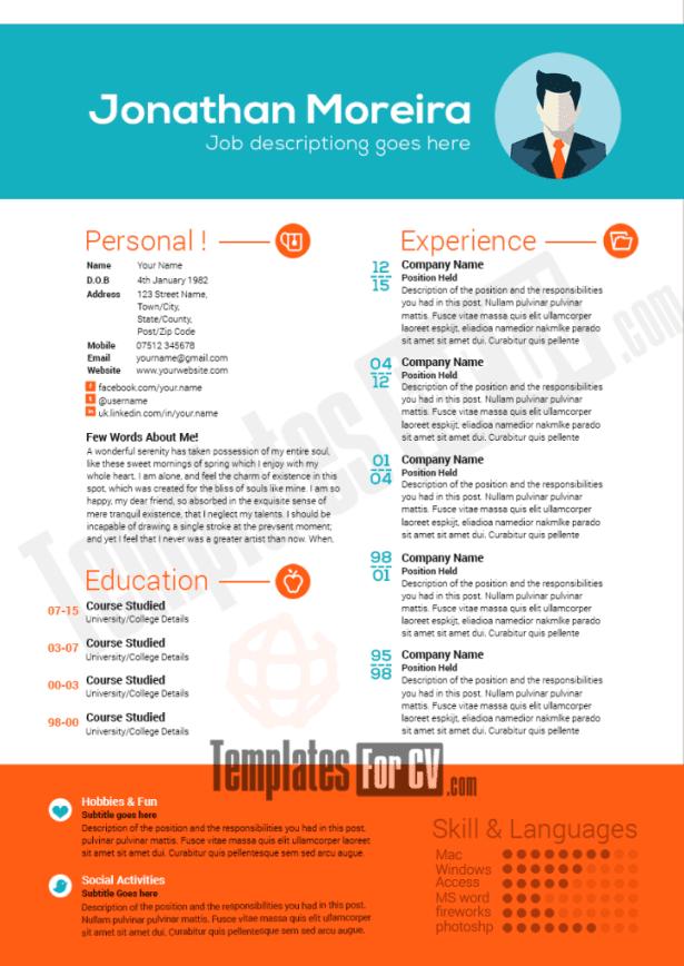 Professional Resume Template Word 2013 Curriculum Vitae
