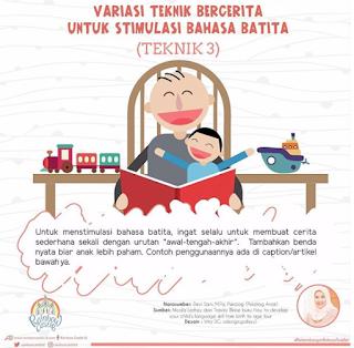 VARIASI TEKNIK BERCERITA UNTUK STIMULASI BAHASA BATITA (TEKNIK 3)
