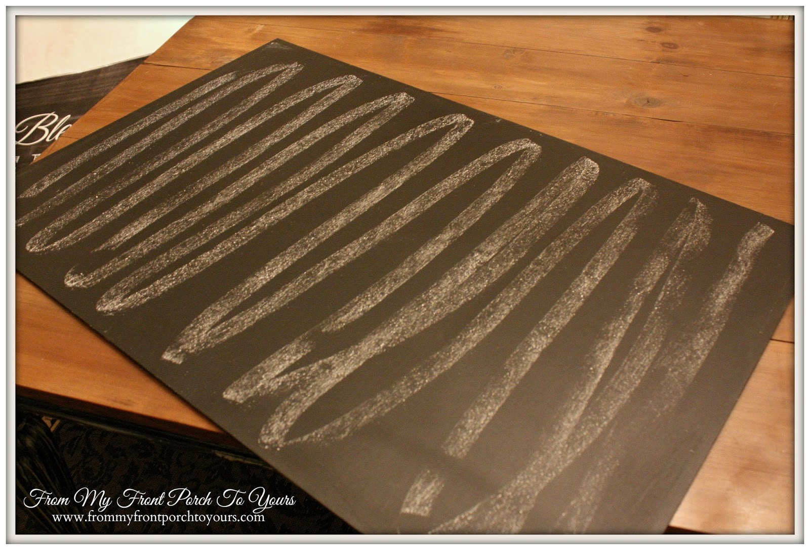From My Front Porch To Yours- DIY Dining Room Chalk Board Tutorial
