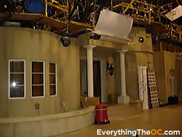 the o.c. cohen house front of house set backstage behind the scenes photo