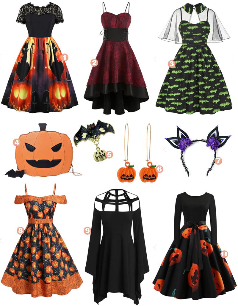Especial Dia das Bruxas! Minhas roupas favoritas de Halloween da Dresslily