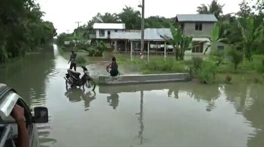 Banjir Di Kabupaten Langkat Mulai Surut