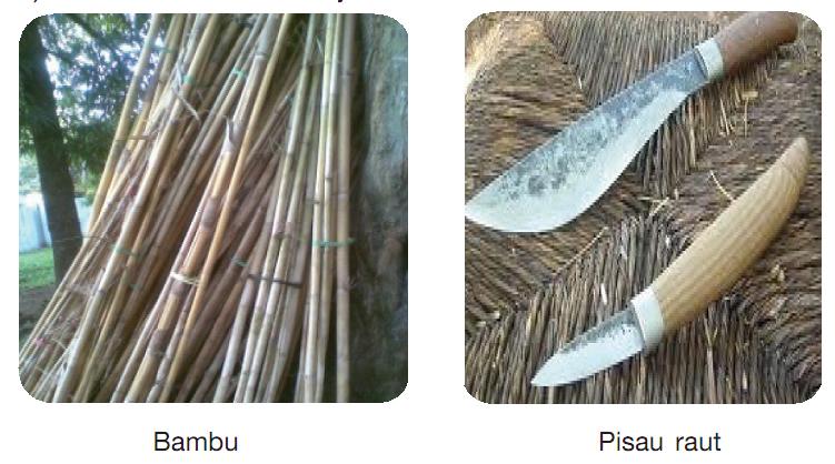 Bahan Pembuatan Kerajinan Bambu Adalah