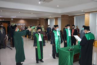 Ketua Pengadilan Tinggi Agama Palembang Melantik Ketua PA Lahat, Ketua PA Baturaja dan Ketua PA Pagar Alam