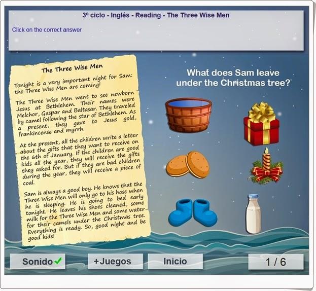 http://www.mundoprimaria.com/juegos/ingles/comprension-lectora/5-6-primaria/1342-juego-navideno-lectura/index.php?rnd=0.6940116666309368