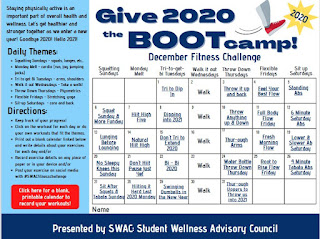 """""""Give 2020 the Boot(camp) December Fitness Challenge"""""""
