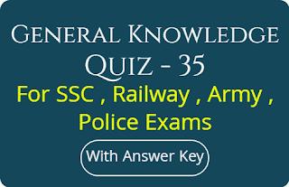 General Knowledge Quiz - 35