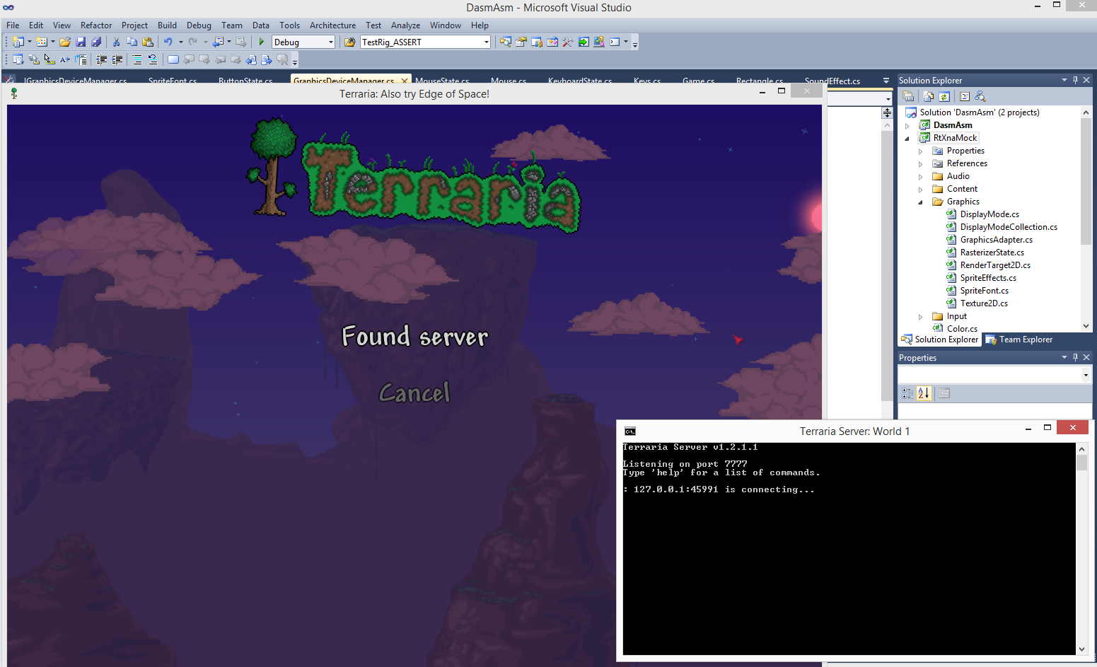 Rom's Rants: Coders: TerrariaServer without XNA?