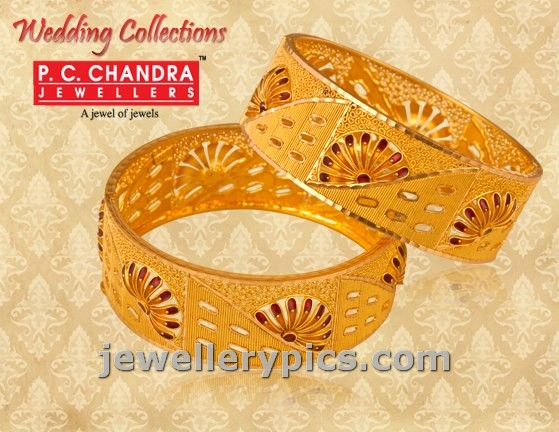 Pc Chandra Jewellers Gold Bangle Wedding Collection