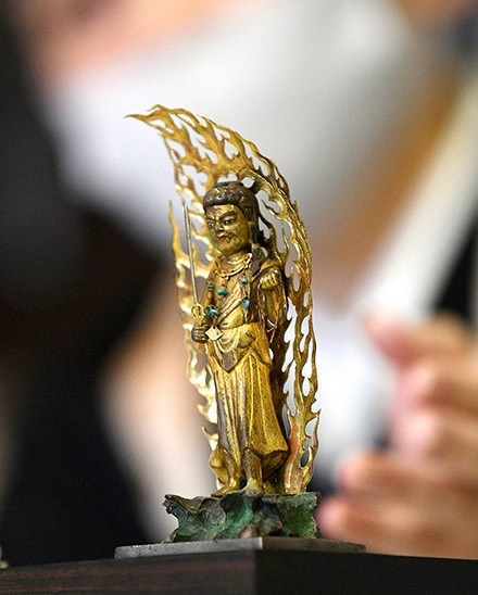 Rare gold-plated Buddhist statue found in Japanese temple