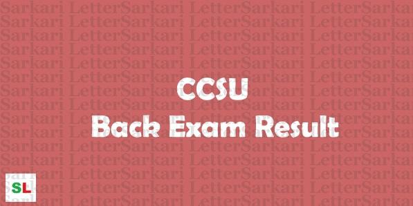 CCSU Back Paper Result 2019