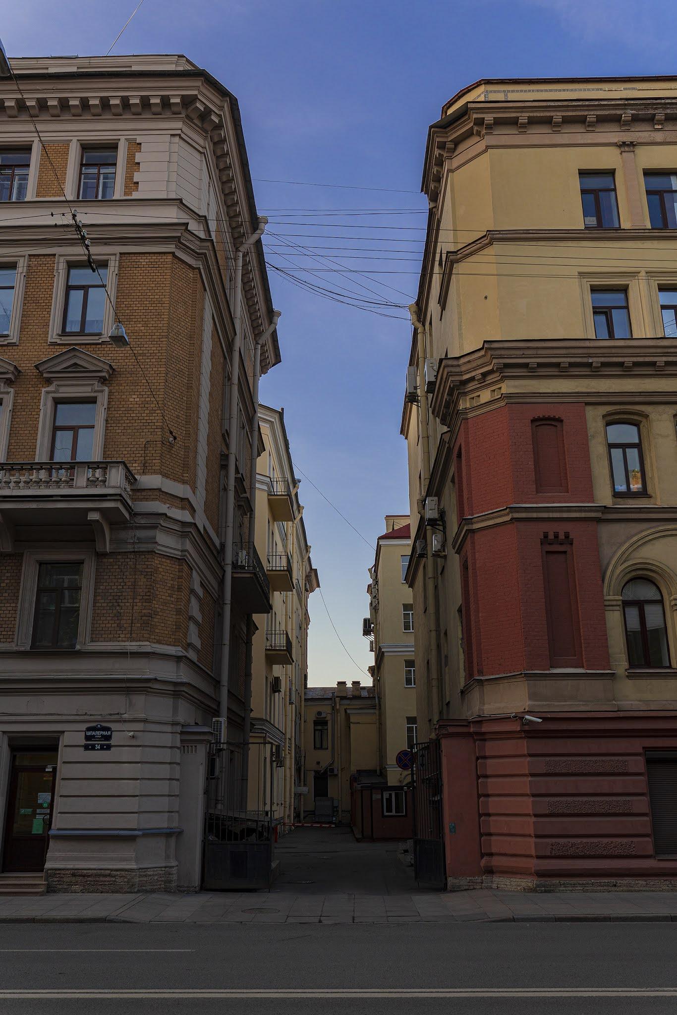 photo Igor Novik St. Petersburg St. Petersburg Spalernaya Peter Spalernaya span sky courtyards