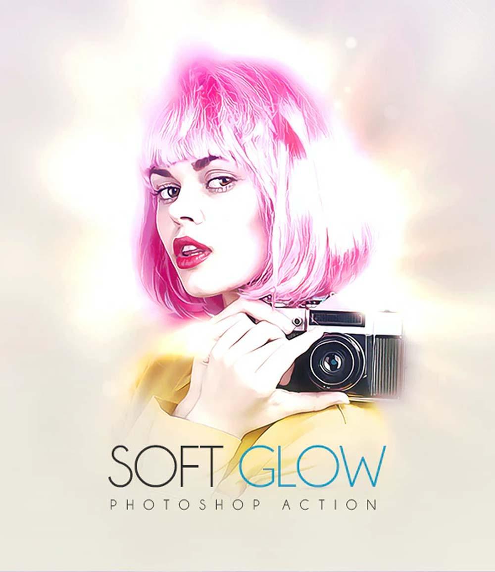 Soft Glow Photoshop Action
