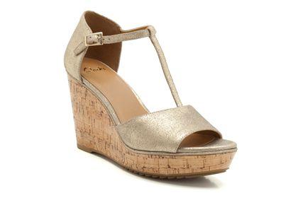 2b7317a8e63 Clarks Trilby Tweed Platform Heeled Sandals 5.5 E Wide Fit - Curvy Wordy