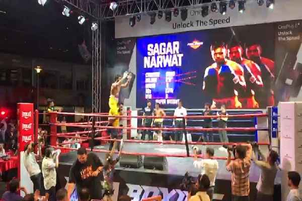 boxer-sagar-narwat-win-10th-fight-in-cyberhub-gurugram-news