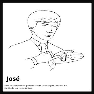José (esposo de Maeia) em Libras