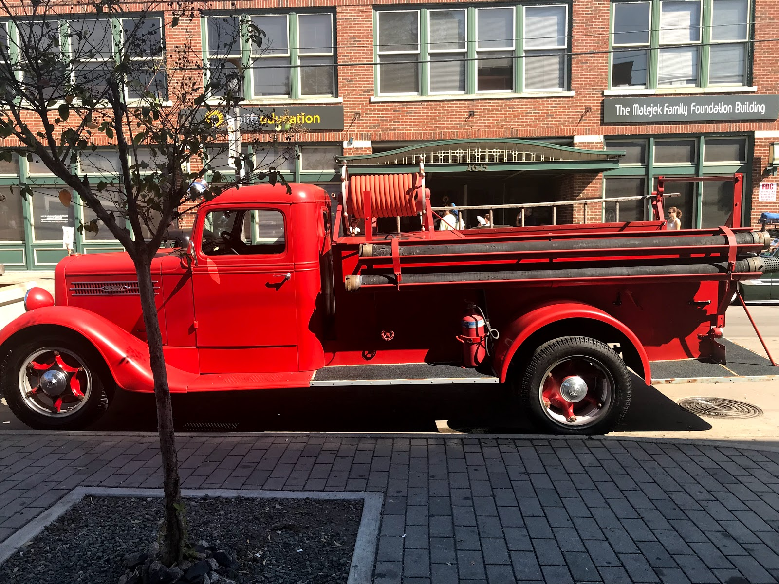 Image: Red truck at the Dallas Car ShoThe Invasion Car Show Deep Ellum Dallas Texasw in Deep Ellum. Seen On Bits and Babbles: