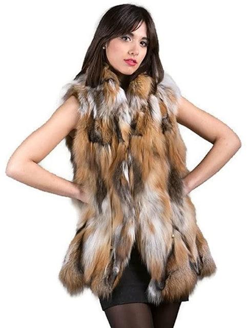 Cheap Genuine Real Fox Fur Vests