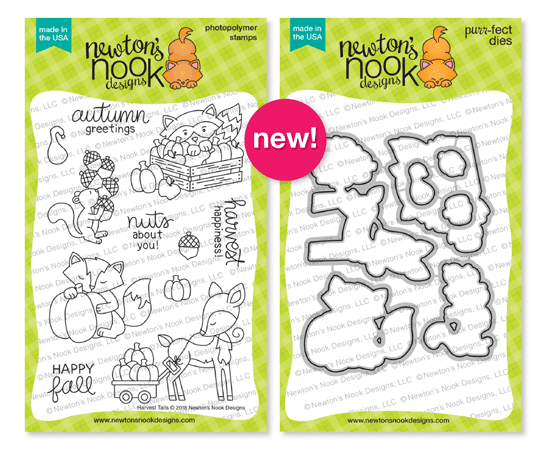 Harvest Tails Stamp and Die Sets by Newton's Nook Designs #newtonsnook