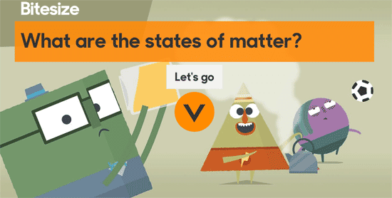 What are the states of matter? in Bitesize