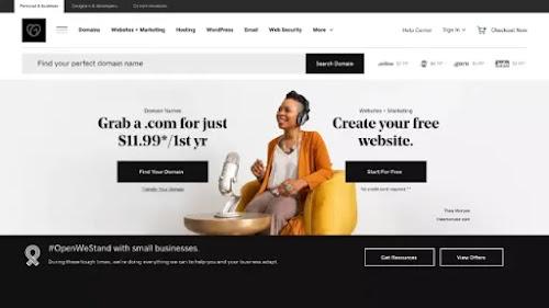 الأفضل للشركات الصغيرة والمتوسطة GoDaddy web hosting
