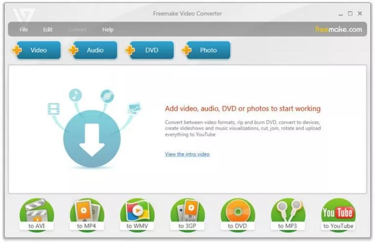 برنامج Freemake Video Converter تحميل